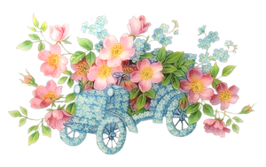 [RES] Flowers Car Abstract PNG by HanaBell1