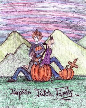 The Halloween Family by firecatshadowof2012