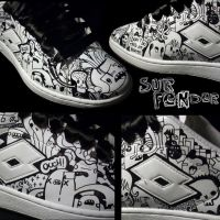 Shoes - ink n leather by surfender
