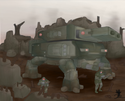 Walker Tank (Rumble Rumble 4, Walky Walky) by ChromeFlames
