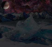 Icy Moonscape by Parasky