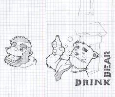 doodles from theory classes by Esfuminho