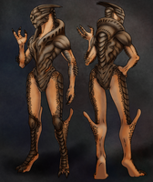 Turian Female Naked by AnnMarKo