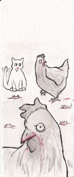 little chickens and mischa by Kasurawa