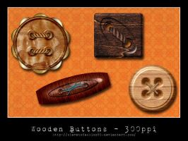 Large Wooden Buttons by slavetofashion69