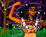 native american illustration by miharuyume