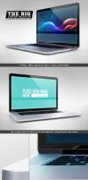 The Big Device Mock up - Desktop and Laptop by NuwanP
