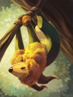 Bestiary Project - Slothstra by StarsAndOceans