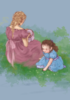 Fantine and Cosette by pelides