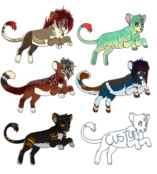 . Adoptable Batch [CLOSED] . by Gii-Adoptables