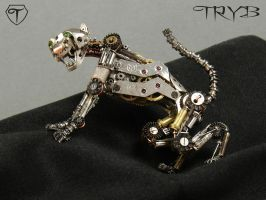Steampunk cheetah by TRYBcomPL