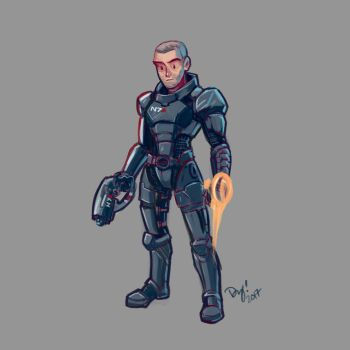 Shepard Quick Sketch by vitamindy