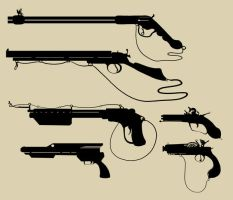 Silhouette- Guns 2 by TypoCity