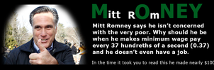 Mitt Romney's wages by brainhiccup
