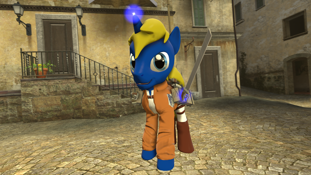 SnK pony outfit for stallions and mares by PercyTechnic
