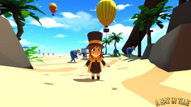Hat Kid on the Beach by Habboi