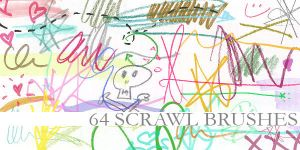 64 Scrawl Brushes by Aless1984