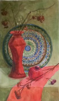 Red vase by Luzblanca