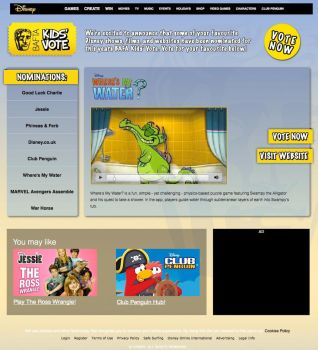 Disney BAFTA Kids Vote Website by ChubbaART