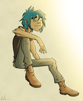 2D - Getting Some Sun by BeJuled