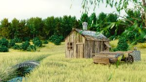 Hut in the Woods by aad345