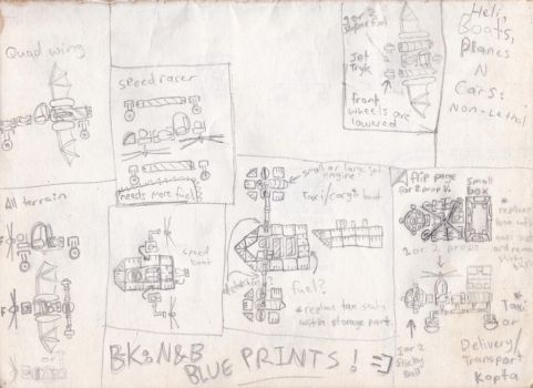 vehicle blueprints - Banjo-Kazooie: Nuts and Bolts by 3lEctric