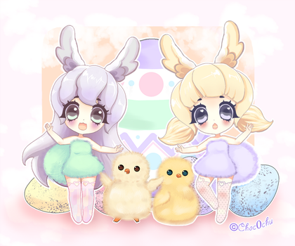Easter Bunnies by Choc0Chu