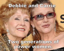 To Debbie Reynolds and Carrie Fisher by EsmeAmelia