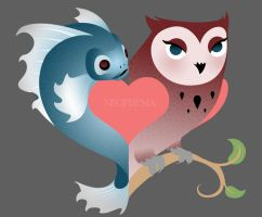 Fish and Owl by LeFreaks