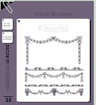 Brush Pack - Decor Elements by MouritsaDA-Stock