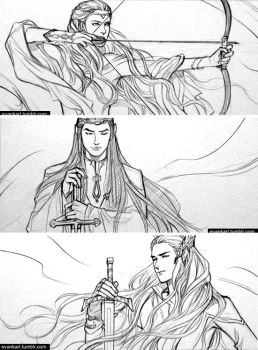 Elf lords of middle-earth (2) by evankart