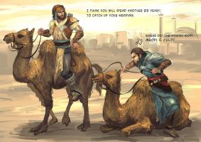 Riding camel by sunsetagain