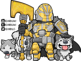 Lord Saladin and The Wolf Pack by KevinRaganit