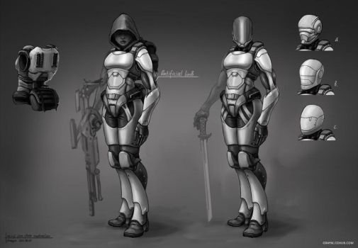female sci-fi armour 01 by GrayM