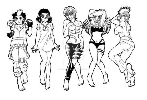 Tracing of Body pillow ~girl ver. by yamanin1982