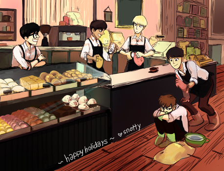 Happy holidays from the coffee shop! by Snottle