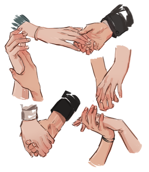 practicing some hands by lesly-oh